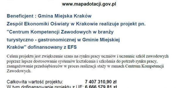 LISTA OSÓB ZAKWALIFIKOWANYCH NA KURSY BARMAŃSKIE w ramach projektu Centrum Kompetencji Zawodowych w Gminie Miejskiej Kraków.