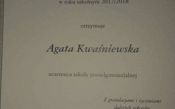 Wręczenie dyplomów stypendystom Prezesa Rady Ministrów narok szkolny 2017/2018