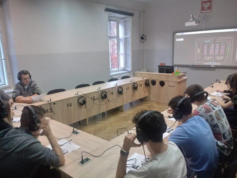 """""""Gastronomia po angielsku"""" w ramach projektu Centrum Kompetencji Zawodowych w Gminie Miejskiej Kraków."""