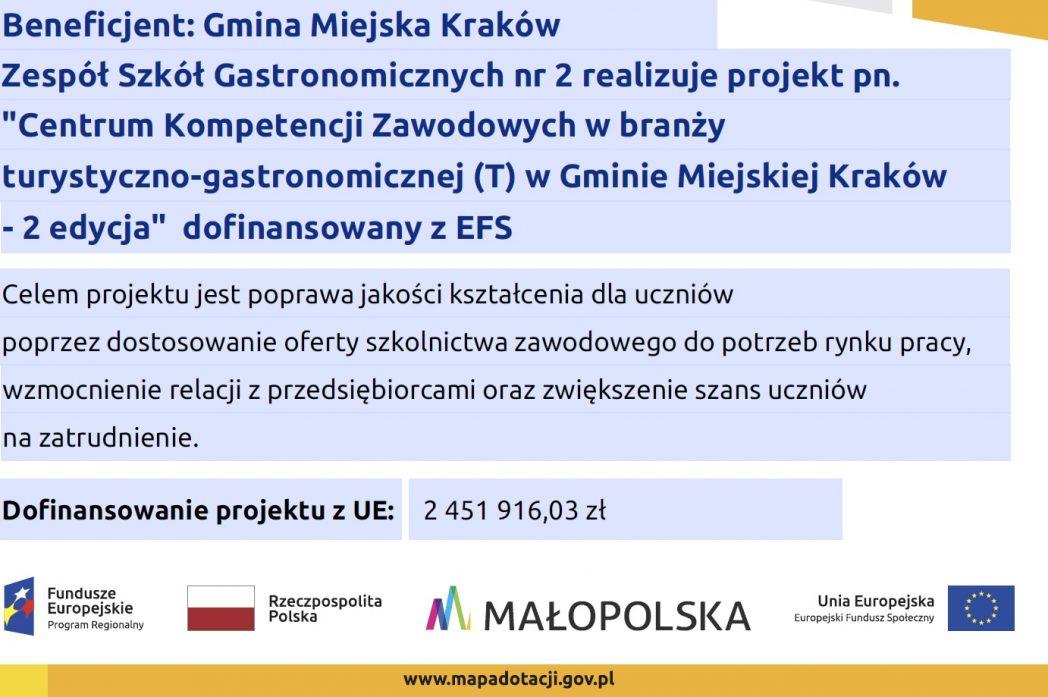 Centrów Kompetencji Zawodowych wGminie Miejskiej Kraków – 2 edycja