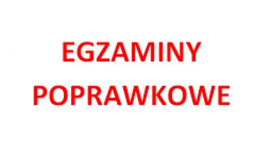 Harmonogram egzaminów poprawkowych wr. szk. 2019/2020