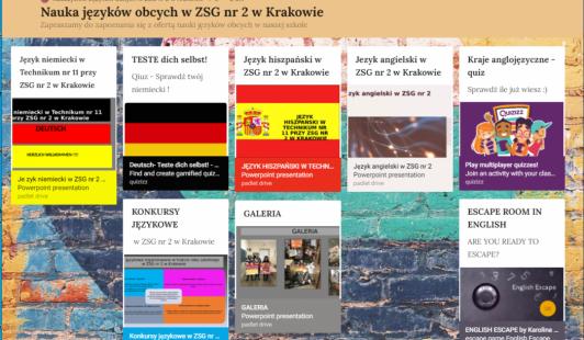 Krakowski Tydzień Zawodowców – Nauka języków obcych wZSG nr2
